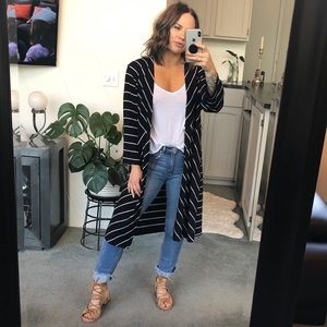 NWT Traveler's Chico's Striped Duster Jacket